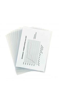 Pochettes coin polypropylène 14/100 incolore - Paquet de 10