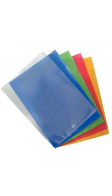 Pochettes coin polypropylène 14/100 assorties - Boîte de 100
