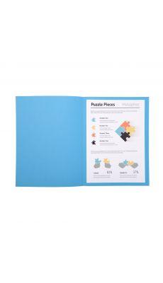 Exacompta - 330010E - Chemise gamme SUPER 210g - Format 24x32cm - Bleu vif - Paquet de 100