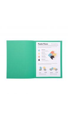 Exacompta - 330021E - Chemise gamme SUPER 210g - Format 24x32cm - Vert vif - Paquet de 100