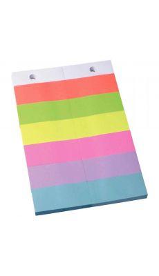 Recharge note repositionnable pour socle 20x15 neon - Lot de 12
