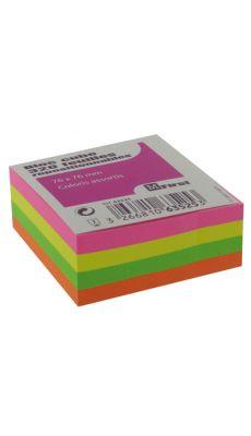 Bloc cube repositionnable neon 76x76mm - bloc de 320 feuilles