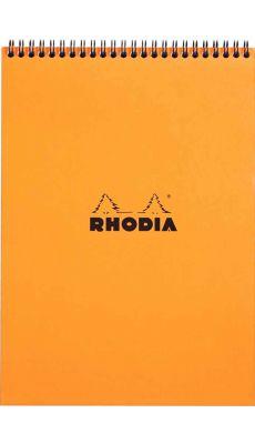 RHODIA - BLOC RELIURE INTEGRALE ORANGE A4 160P 5X5 80G