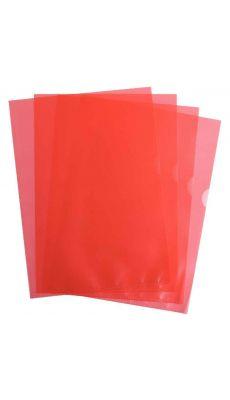 Pochettes coin polypropylène 9/100 rouge - Boîte de 100