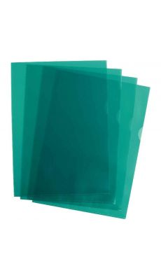 Pochettes coin polypropylène 9/100 vert - Boîte de 100