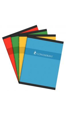 Conquerant - 100 100 600 - Cahier piqûre grand carreaux - 24x32cm - 96 Pages