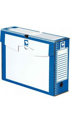 MAJUSCULE - 64178 BUSINES - Boite archive 34x 25 dos 10cm bleu - Paquet de 25