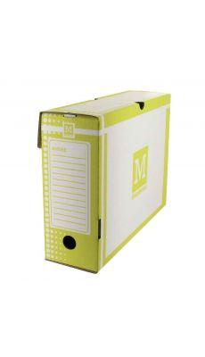 MAJUSCULE - 64181 BUSINES - Boite archive 34x 25 dos 10cm jaune - Paquet de 25