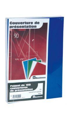 PAVO - 8011063 - Couverture glace 21x29,7 bleu 250g - Paquet de 100