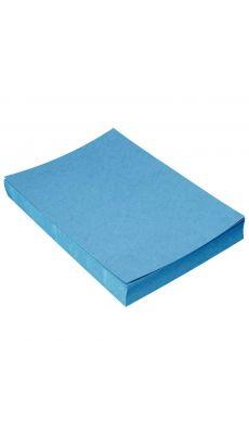PAVO - 64219 - Couverture grain cuir bleu fonce 250g - Paquet de 100