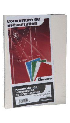 PAVO - 8011216 - Couverture grain cuir ivoire 250g - Paquet de 100
