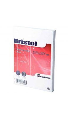Fiche bristol blanche petit carreaux 210x297 - Paquet de 100
