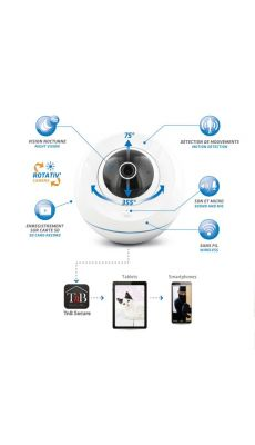 TNB - IPCAMHD - Caméra de surveillance  IP WIFI 720P