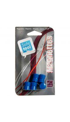 Punaise magnetique d12  bleu - Blister de 10