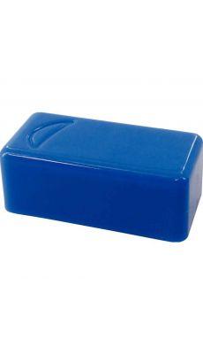 Punaise magnetique 12x25 bleu - Blister de 6