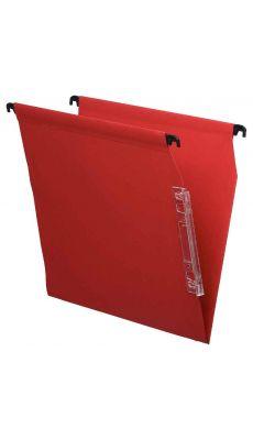 Dossier suspendu armoire dos v rouge - Paquet de 25