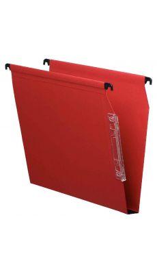 Dossier suspendu armoire dos 30 rouge - Paquet de 25