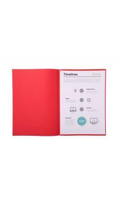 Sous chemise rouge 60g 22x31 - Paquet de 250