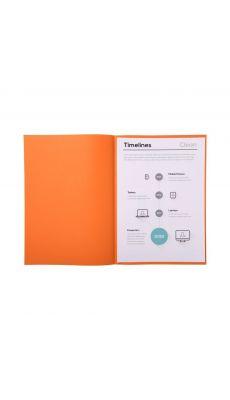 Sous chemise orange 60g 22x31 - Paquet de 250