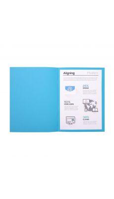 Chemises dossiers 170g 24x32 bleu fonce - Paquet de 100