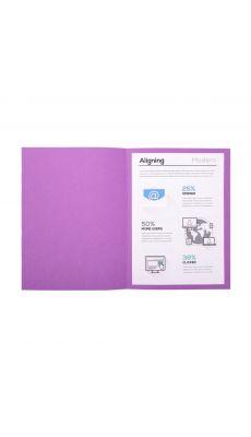 Chemises dossiers 170g 24x32 violet - Paquet de 100