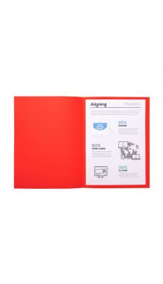 Chemises dossiers 170g 24x32 rouge - Paquet de 100