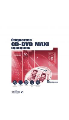 Etiquette cd-dvd multi-usage - pochette de 40