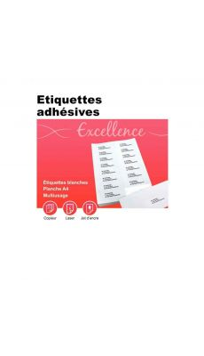Etiquette adresse coin carre 10,5x 3,5 - boite de 1600