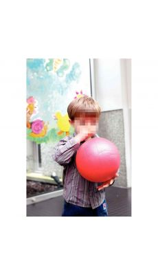 Ballon soft play bleu mousse pvc
