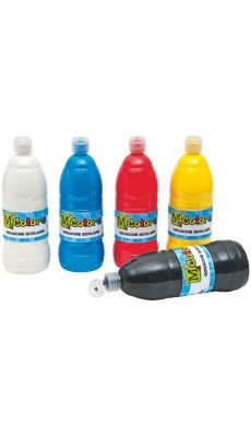 Gouache liquide assorti - carton de 6 flacons de 1l