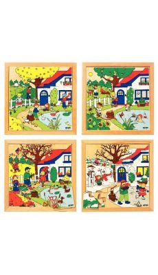 Serie de 4 puzzles a cadres, les 4 saisons