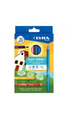 LYRA - 890K12 - Crayon de couleur triangulaire super-ferby - etui de 12
