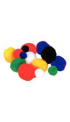 Pompon couleur assorti - sachet de 300
