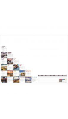 Bouchut grandremy - 000825 - Recharge sous-main 25 feuilles mosaique 38,5x54 cm perpétuel