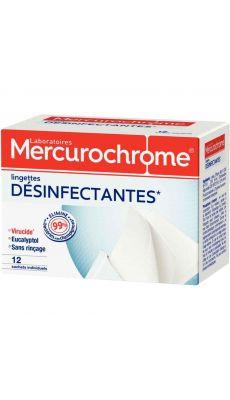 MERCUROCHROME - 050472 - Compresse antiseptique - Boite de 12