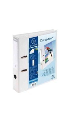 Exacompta - 53789E - Classeur à levier personnalisable blanc A4+ - Dos 7cm