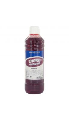 Encre a dessin rouge vif - flacon de 500ml
