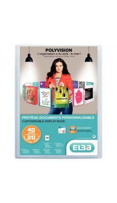 Elba - 054034-17 - Protège-document personnalisable A4 - Incolore - 40 Vues