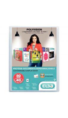 Elba - 100 206 232 - Protège-document personnalisable A4 - Incolore - 80 Vues