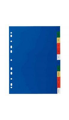 Intercalaires mensuel polypropylène couleur - jeu de 12