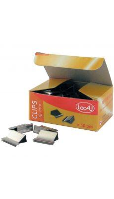 LOCAU - B 8243.50 - Pince a clip nickele 18mm / 4mm - boite de 50