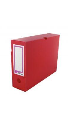 MAJUSCULE - 12.64X10FILM0 - Boites archive polypropylène dos9 rouge af - Paquet de 10