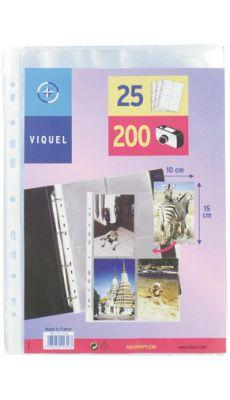 Pochettes perforees pour photos 10x15cm - Paquet de 25