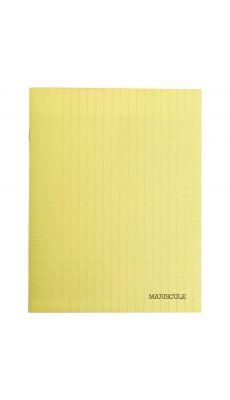 Cahier piqures grand carreaux polypropylène 17x22 32p 90g - Jaune