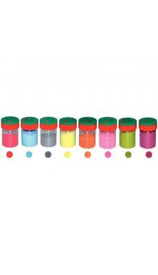 Saliere 100g sable couleur pastel assorti - kit de 8