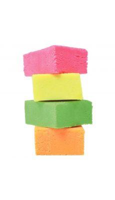 Pate a jouer couleurs fluo - boite de 4 pains de 500g