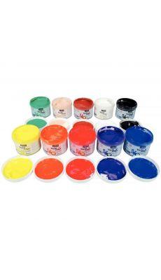 PEBEO - 227000 - Gouache au doigt tactilcolor - Lot de 10 pots 225ml