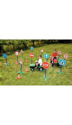 Panneaux routiers 1metre - Lot de 12