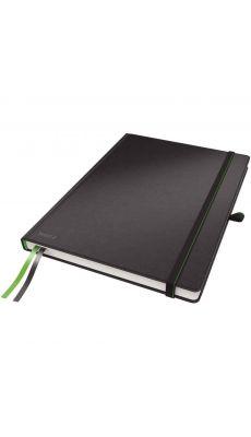 LEITZ - 4472-00-95 - Cahier brochure lignée, format A4 noir - Papier ivoire certifié FSC de 100g/m²