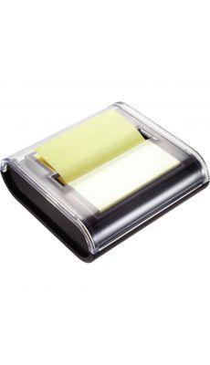 Dévidoir noir + bloc Z notes repositionnables - format 75x75 mm